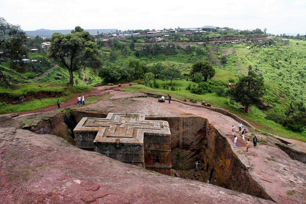 1. Ethiopie - Lalibela. Rotskerk
